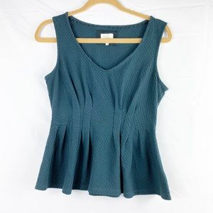 Anthropologie Deletta Peplum Top